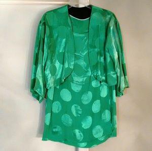 Dresses & Skirts - Green vintage mini dress